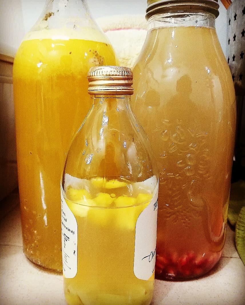kefir de agua en botellas