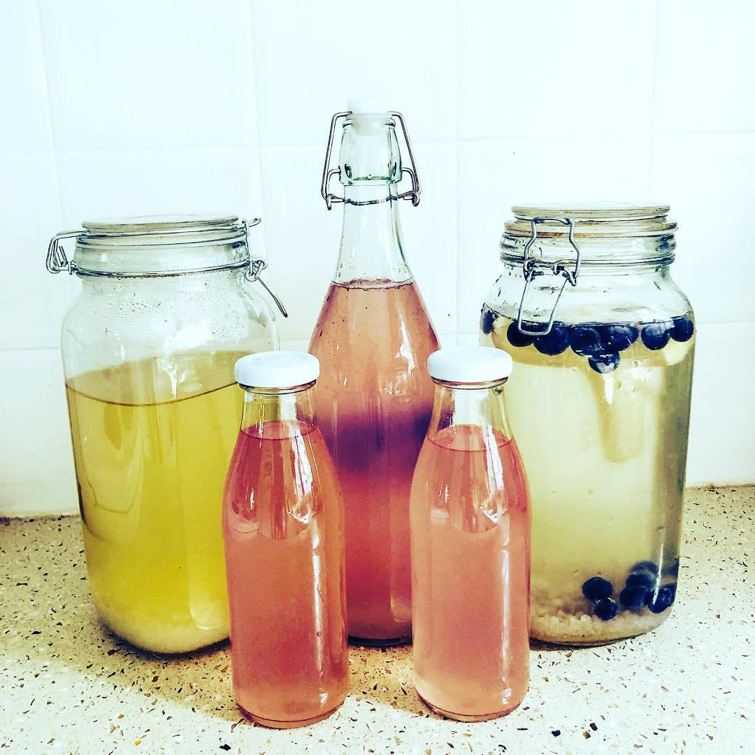 kefir de agua hecho en casa